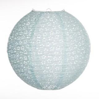 Lanterne boule Ajouré - Diam. 35 cm. - Bleu