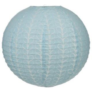 Lanterne boule Sweet imprimé - Diam. 45 cm. - Bleu