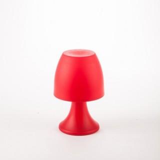 Lampe LED - H. 19,5 cm. - Rouge
