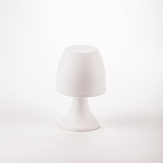 Lampe LED - H. 19,5 cm. - Blanc