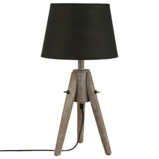 Lampe Bois - H. 46 cm.