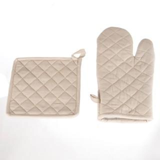 Gant et manique - Coton - Lin