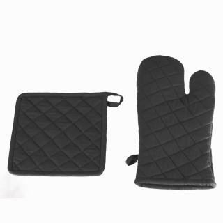Gant et manique - Coton - Gris foncé