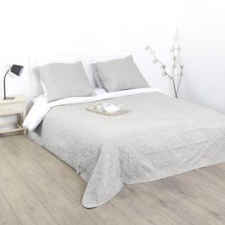 Dessus de lit et 2 taies Arabesque - 260 x 240 cm. - Lin