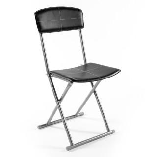 Chaise pliante - PVC - Noir