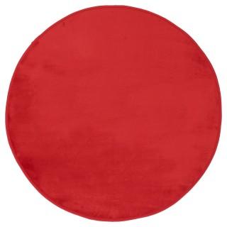 Tapis rond Velours - Diam. 90 cm. - Rouge