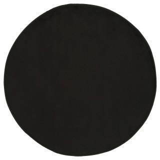 Tapis rond Velours - Diam. 90 cm. - Noir