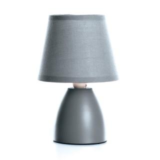 Lampe de chevet - Diam. 12,5 cm. - Gris