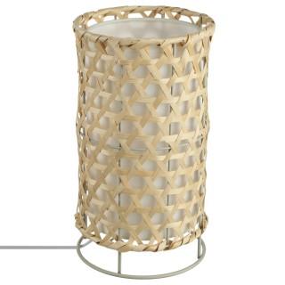 Lampe Bambou - H. 31 cm. - Marron