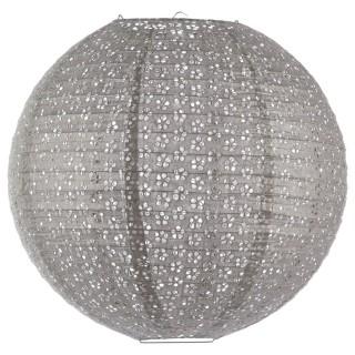 Lanterne Boule ajourée - Diam. 45 cm. - Gris moyen