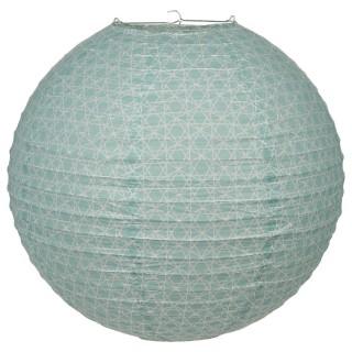 Lanterne Boule Nature - Diam. 45 cm. - Bleu