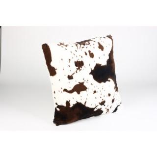 Coussin Fourrure - 45 x 45 cm. Vache