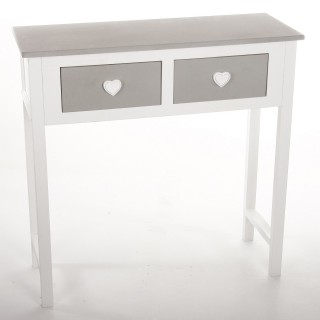 Console Coeur Leonce - 2 Tiroirs