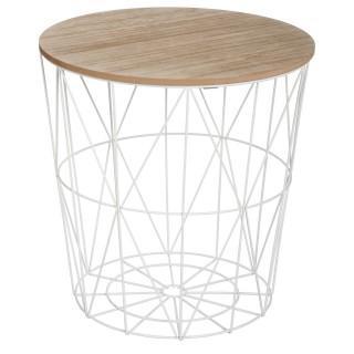 Table à café Kumi en métal - Blanc