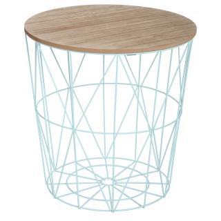 Table à café Kumi en métal - Bleu