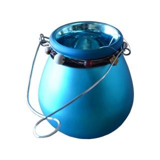 Photophore décoré Ruban - Turquoise