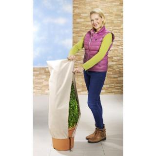 2 Housses de protection pour végétaux - Beige - 50 x 100 cm.