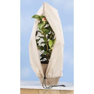 3 Housses de protection pour végétaux - Beige - 40 x 60 cm.