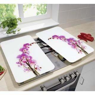 2 Couvre-plaques universel - Fleur d'orchidée