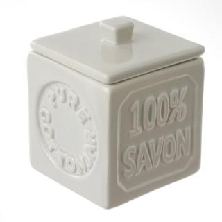Pot à coton 100% savon - Beige