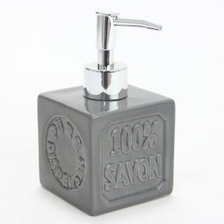 Distributeur de savon 100% savon - Céramique - Gris
