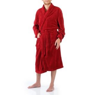 Peignoir microfibre - Homme - Rouge