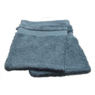 2 gants de toilette- Coton peigné - Bleu