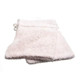 2 gants de toilette- Coton peigné - Rose