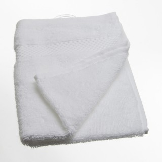 Serviette de toilette Coton peigné - 50 x 30 cm. - Blanc