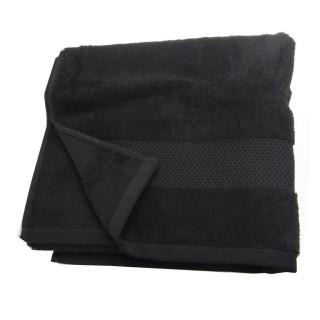 Serviette de toilette Coton peigné - 90 x 50 cm. - Noir