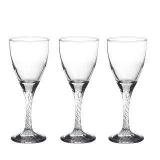 3 Verres à vin Twist