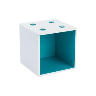 Rangement Cube - Bleu lagon