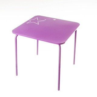 Table en métal Enfant - 48 x 48 cm. - Violet