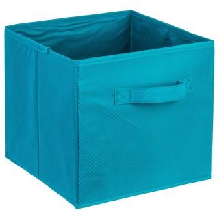 Bac de rangement avec poignée - Bleu lagon