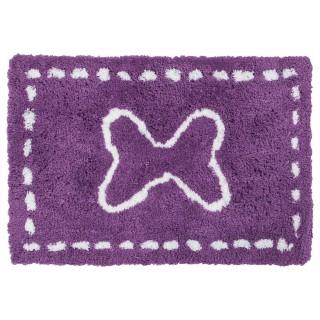 Tapis microfibre - 90 x 60 cm. - Violet