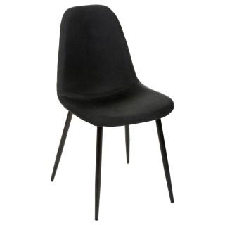 Chaise Nokas - Pied en métal - Noir