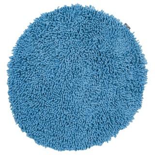 Tapis chenille - Diam. 70 cm. - Bleu