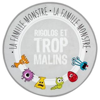 Tapis microfibre Monstre - Diam. 70 cm.