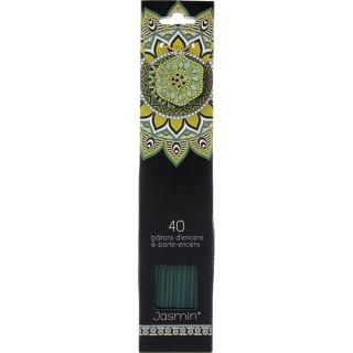 40 Bâtons d'encens avec support - Parfum Jasmin