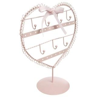 Porte bijoux cœur - Rose