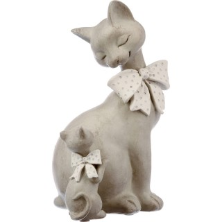 Statuette Chat - Résine - Chat et chaton