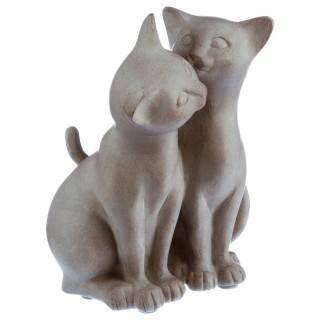 Statuette Chat - Résine - Bisou