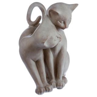 Statuette Chat - Résine - Chat enlacé