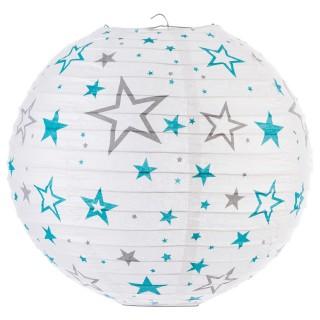 Lanterne boule imprimée - Diam. 35cm. - Lagon