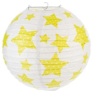 Lanterne boule imprimée - Diam. 35cm. - Vert