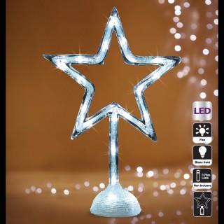 Etoile acrylique Lumineuse - 20 LED