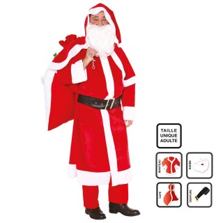 Déguisement père Noël - Adulte - 4 pièces