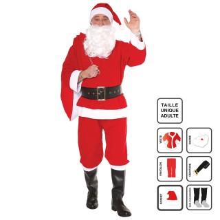 Déguisement père Noël - Adulte - 6 pièces