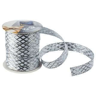 Ruban textile tissé - Argent