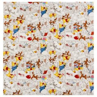 Papier cadeau Winnie - 200 x 70 cm. - Blanc